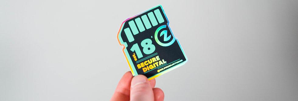 "ZC ""SD Card"" Holographic Sticker"