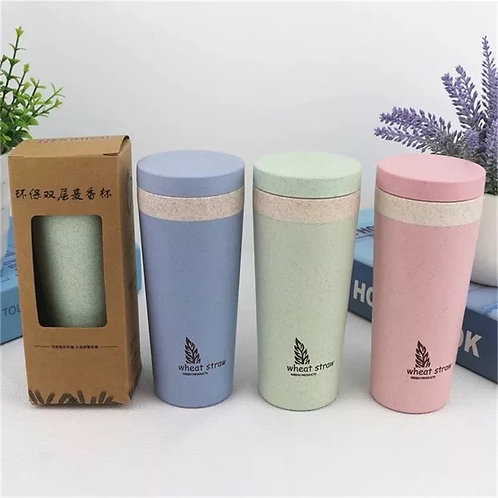 ECO FRIENDLY BIODEGRADABLE WHEAT STRAW COFFEE MUG WATER BOTTLE