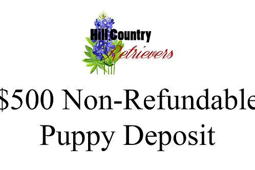$500 Puppy Deposit