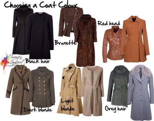 выбор цвета пальто подцвет волос