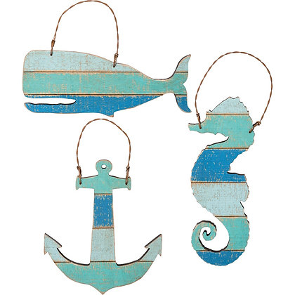 Set of 3 Sea Ornaments
