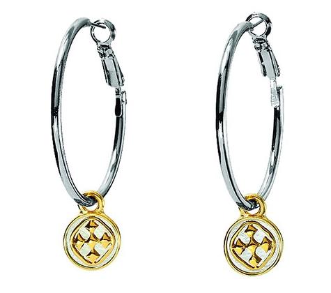 Gracewear Medallion Hoop Earrings