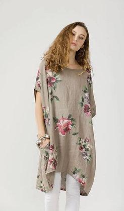 Linen Rose Dress