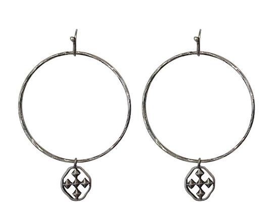 Gracewear  Hammered Hoop Earrings