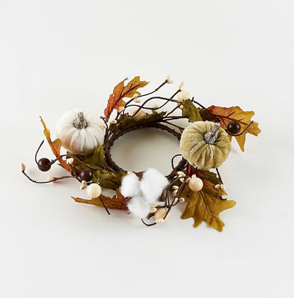 Pumpkin/Cotton Candle Ring