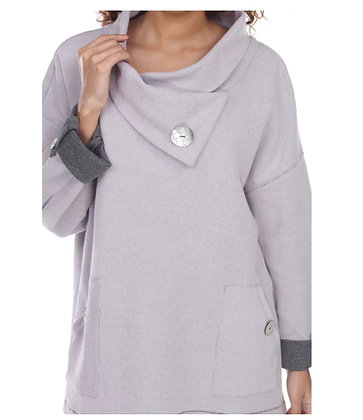 Button Gray Sweater