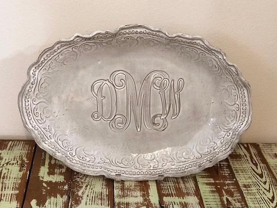 Monogrammed Custom Platter XL