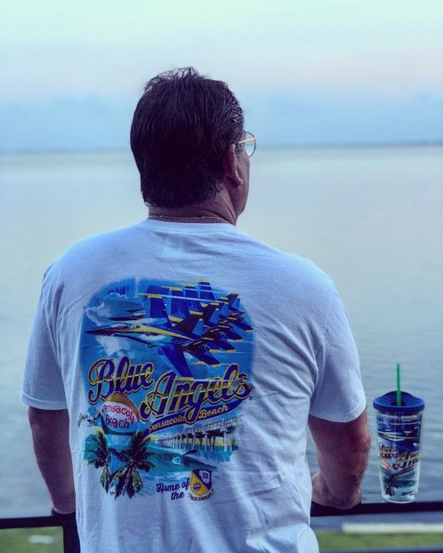 Our Tshirt Has The Blue Angels Pensacola Beach Ball Pier And Official Logo We Got You Covered In All Things