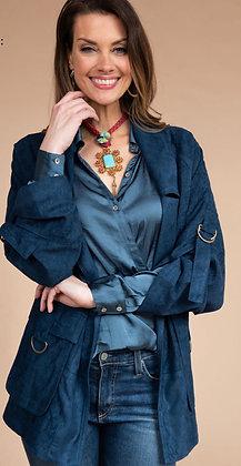 Blue Suede Jacket - Ivy Jane