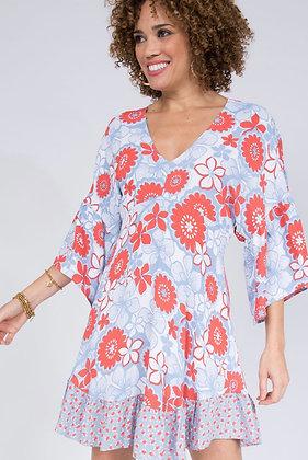 Floral Dolman Dress
