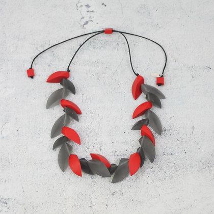 Red/Grey Zara Necklace