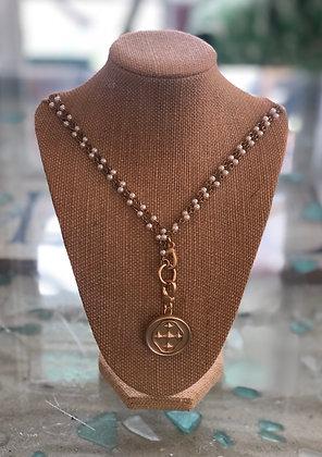 Rosary Style Beaded Necklace - Gracewear