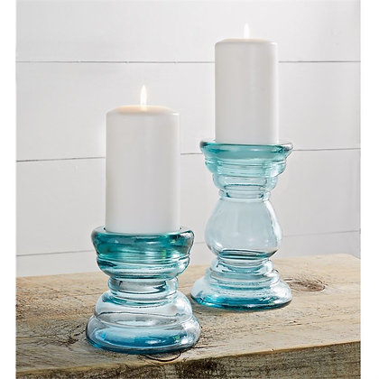 Chunky Glass Candle Holders