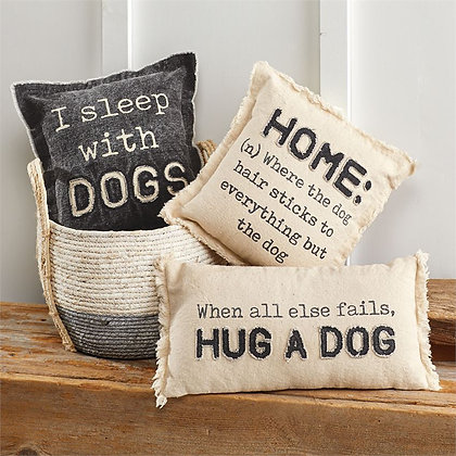 Canvas Dog Pillows