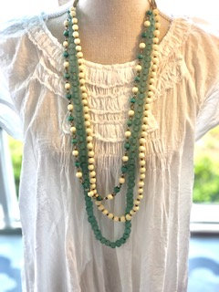 Three Strand Glass Beaded Necklace