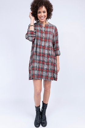 Plaid Tuck Front Dress - Uncle Frank
