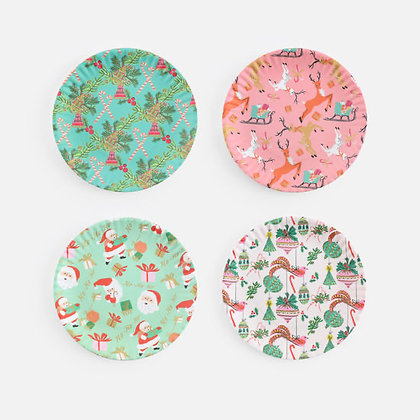 Set of 4 Holiday Plates
