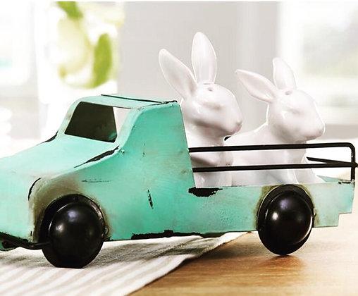 Bunny Salt/Pepper in Truck Set