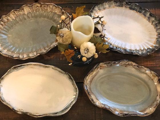 Oval Platter - Etta B Pottery