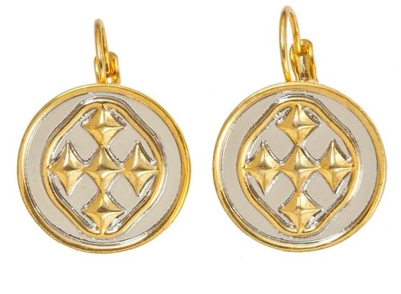 Gracewear Medallion Small Coin Earrings