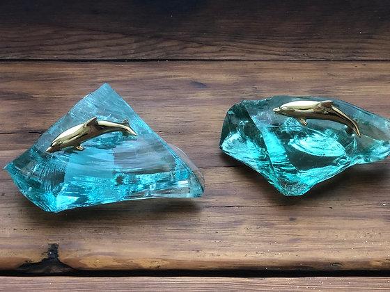 Dolphin Glass Art