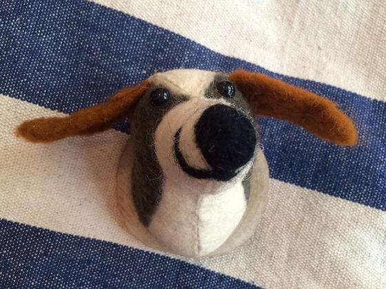 Woolen Dog Trophy Head