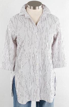 Easy White Stripe Shirt