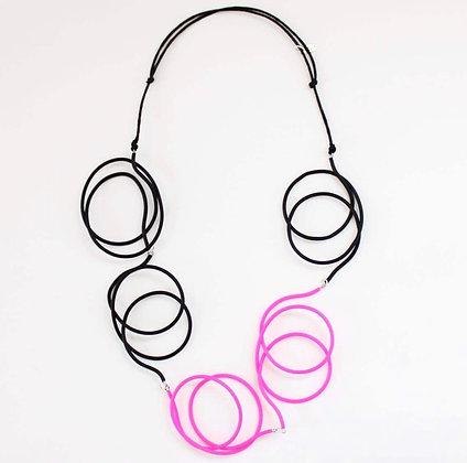 Black/Pink Veronica Necklace
