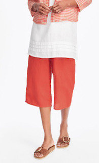 Poppy Crop Pants - Flax