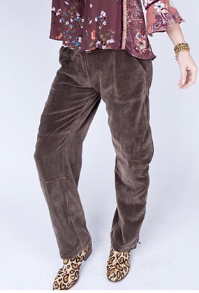 Velvet Cargo Pants - Ivy Jane