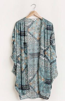 Teal Kimono