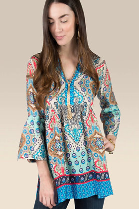 Scarf Print Tunic - Uncle Frank