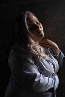 Woman posing in soft light
