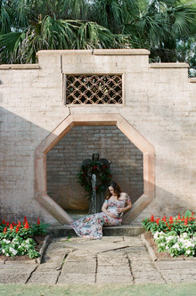 Jen's Outdoor Maternity Session - Bok Tower Gardens - Lake Mary, Florida