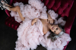 tampa beauty and boudoir photo pink couture robe