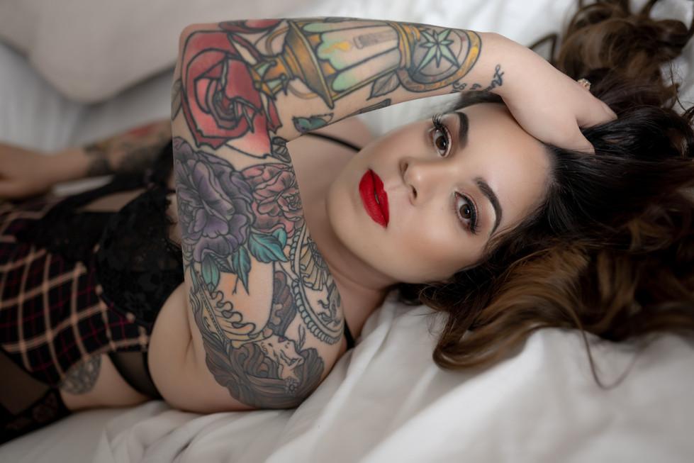 tampa boudoir photographer tattoo sleeve photo