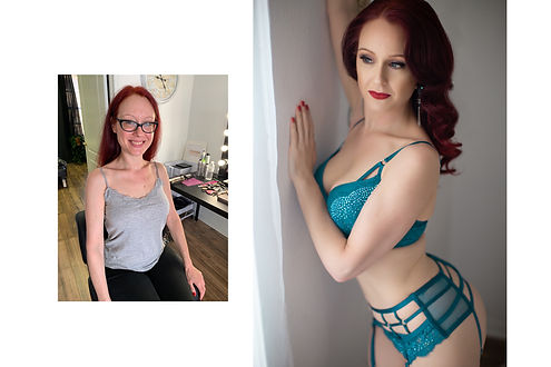 Before And After Boudoir Photo