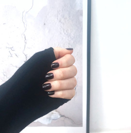 Dark Dhalia nails by Steph