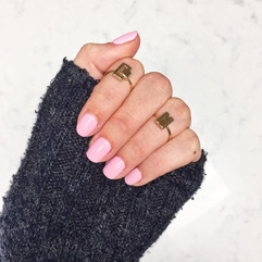 Pink Gel Nails by Steph