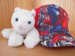 Doudou chat blanc + casquette