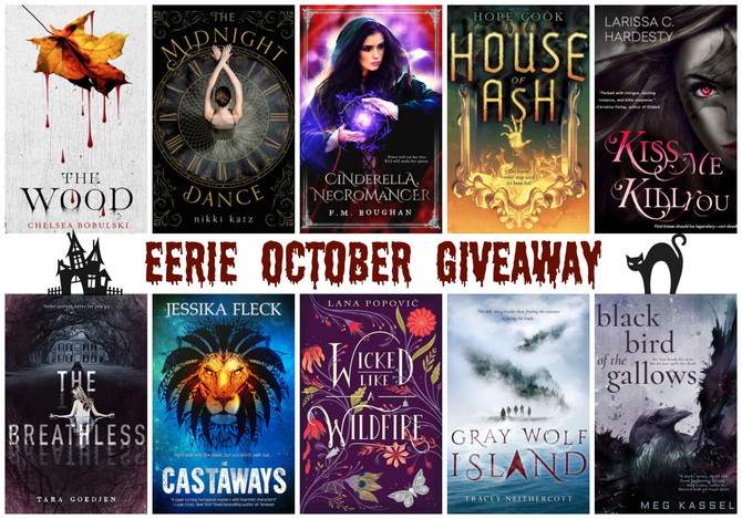 Enter to win 10 free books for Eerie October!