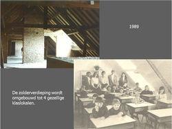 4 nieuwe klaslokalen op zolder
