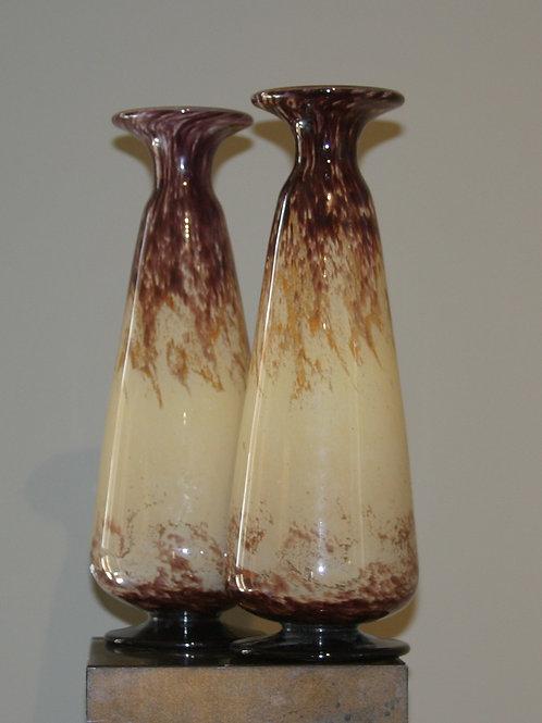 Paire de vases Delatte Nancy