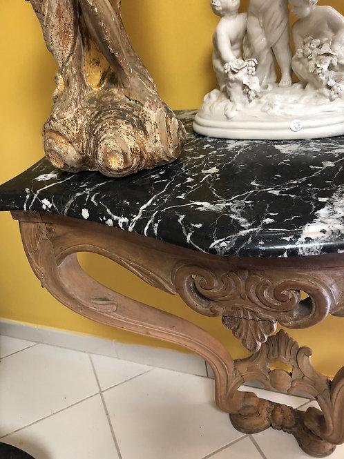 Console en marbre et bois