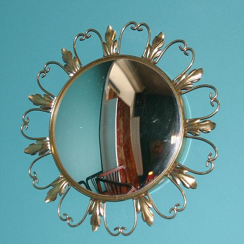 Miroir doré années 1950