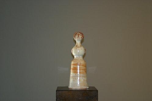 Statuette femme en céramique