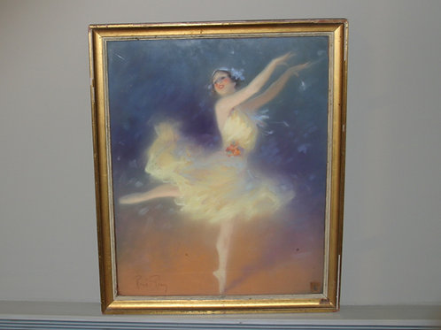 "Peinture ""La danseuse"" René Péan"