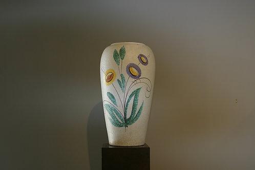 Grand vase en céramique floral