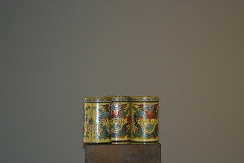 Trio de boites en métal
