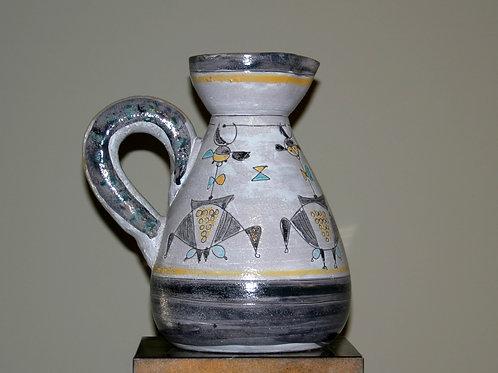 Grande céramique à motifs géométriques